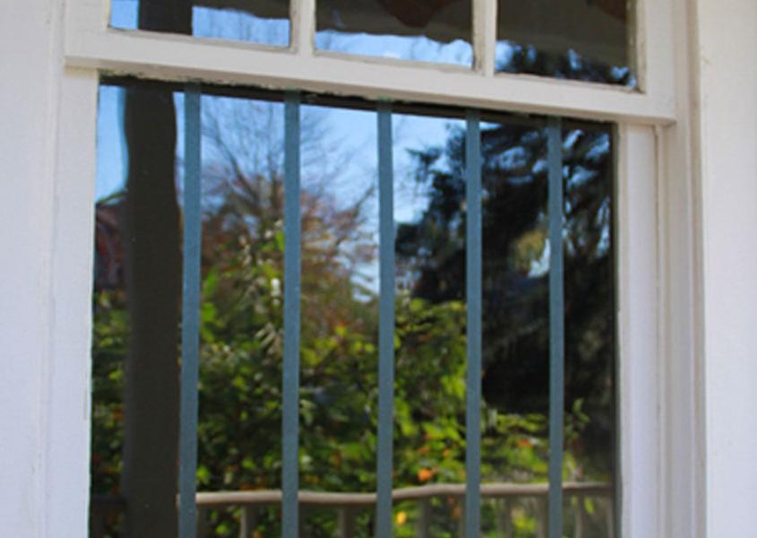 Window tape on home window