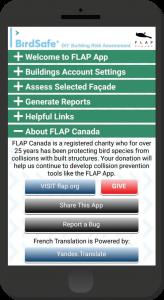 FLAP App on Smartphone
