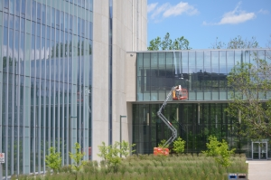 bird-safe commercial building retrofit