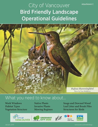 Bird Friendly Landscape Operational Guidelines