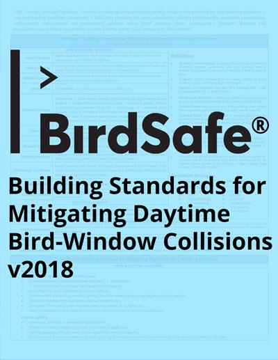 BirdSafe® Building Standards for Mitigating Daytime Bird-Window Collisions 2018