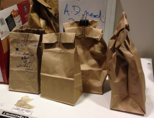 unwaxed paper bags
